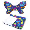 Dwinguler Butterfly Pillow & Blanket in Dino