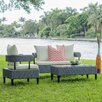 Matrix Biscayne Outdoor 4 Piece Lounge Seating Group with Cushion
