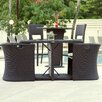 Matrix Boynton 3 Piece Outdoor Dining Set with Cushions