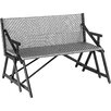 Matrix Vero Grey Outdoor Convertible Bench / Picnic Table