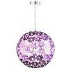 Honsel Purple 1 Light Globe Pendant