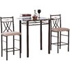 Hodedah 3 Piece Dining Set