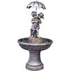 Kingfisher Boy and Girl under Umbrella Water Fountain