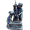 Kingfisher Boy and Girl Stone Hand Pump Water Fountain