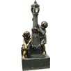 Kingfisher Boy and Girl Lamp Post Fountain