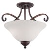 Millennium Lighting Kingsport 2 Light Semi-Flush Mount