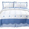 Lavish Home Brianna Embroidered Coverlet Set