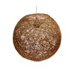Gallis Rattan 1 Light Globe Pendant