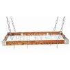Rogar Gourmet Hanging Pot Racks with Metal Accents