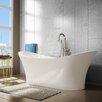 """A&E Bath and Shower Evita 69"""" x 27"""" Soaking Bathtub"""