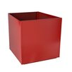 Aluminum Planter Box - Size: 16 inch High x 16 inch Wide x 16 inch Deep - Color: Red - Nice Planter Planters