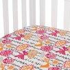 Sweet Potato by Glenna Jean Calliope Bird Print Fitted Crib Sheet