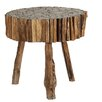 Ibolili Round Cut Teak Wood End Table