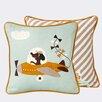 Scantrends Ferm Living Kids Kite Plane Cotton Throw Pillow
