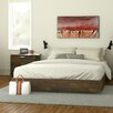 Nexera Nocce Truffle Queen Platform Customizable Bedroom Set