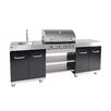 cook in garden Summer Gas Barbecue with 4 Burners