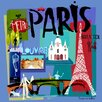 GreenBox Art Tour Paris by Susy Pilgrim Waters Painting Print on Wrapped Canvas
