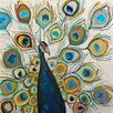 "GreenBox Art ""Peacock Metallic Pearl"" by Eli Halpin Painting Print on Wrapped Canvas"