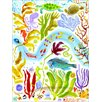 GreenBox Art Octopus Garden Wrapped Canvas by Donna Ingemanson Painting Print on Wrapped Canvas