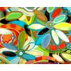 GreenBox Art Flower Petals on Water by Andrew Daniel Painting Print on Wrapped Canvas