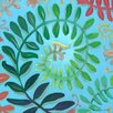 GreenBox Art 'Summerscape - Caterpillar' by Angela Donato Painting Print on Wrapped Canvas
