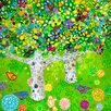 GreenBox Art Pear Tree by Andrew Daniel Painting Print on Wrapped Canvas