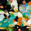 GreenBox Art Flowerfly by Flora Bowley Painting Print on Wrapped Canvas