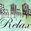 GreenBox Art Relax by Shelly Kennedy Graphic Art on Wrapped Canvas
