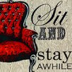 GreenBox Art Sit and Stay Awhile by Shelly Kennedy Painting Print on Wrapped Canvas