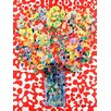 GreenBox Art Abstract Bouquet Red by Angelo Franco Painting Print on Wrapped Canvas