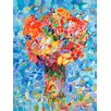 GreenBox Art Abstract Bouquet Sky Blue by Angelo Franco Painting Print on Wrapped Canvas