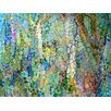 GreenBox Art Abstract Woodland by Angelo Franco Painting Print on Wrapped Canvas