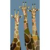 "GreenBox Art ""Three Giraffes"" by Eli Halpin Graphic Art on Wrapped Canvas"