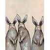 GreenBox Art 'Three Standing Rabbits' by Eli Halpin Painting Print on Canvas