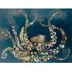 "GreenBox Art ""Octopus in the Deep Blue Sea"" by Eli Halpin Painting Print on Wrapped Canvas"