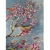 GreenBox Art 'Nests and Berries' by Eli Halpin Painting Print on Canvas