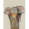 GreenBox Art 'Trendy Trunk on Cream' by Eli Halpin Painting Print on Canvas