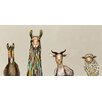 "GreenBox Art ''Donkey, Llama, Goat, Sheep on Cream"" by Eli Halpin Painting Print on Canvas"