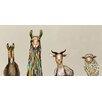 GreenBox Art 'Donkey, Llama, Goat, Sheep on Cream' by Eli Halpin Painting Print on Canvas