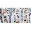GreenBox Art 'Ice Blue Birch Trees' by Eli Halpin Painting Print on Canvas