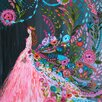 "GreenBox Art ""Wheatpaste Dream Catcher"" by Bari J. Graphic Art on Canvas in Pink"