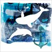 "GreenBox Art ""Anchors Away Whales"" by Barbara Chotiner Graphic Art on Canvas"