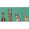"GreenBox Art ""Donkey Llama Goat Sheep"" by Eli Halpin Graphic Art on Canvas in Teal"