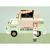GreenBox Art 'Ice Cream Truck' by Rachel Mosley Graphic Art on Canvas