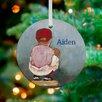 GreenBox Art Lil' Catcher Boy Personalized Ornament by Kristina Bass Bailey