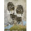 """GreenBox Art """"Wheatpaste Take A Hike"""" by Fancy That Design House & Co Graphic Art on Canvas"""