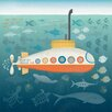 """GreenBox Art """"Submarine Rescue"""" by Harriet Mellor Graphic Art on Canvas"""