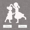 "GreenBox Art ""Sisters Dance Simple Personalized"" by Patti Rishforth Graphic Art on Canvas"