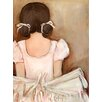 "GreenBox Art ""Lovely Ballerina Brunette"" by Kristina Bass Bailey Print of Painting on Canvas"