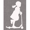 "GreenBox Art ""Scooter Girl"" by Patti Rishforth Graphic Art on Canvas"